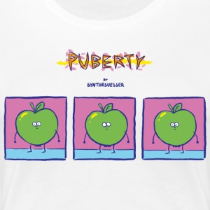 puberty comic - Women's Premium T-Shirt