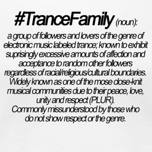 Definition of Trance Family - Women's Premium T-Shirt