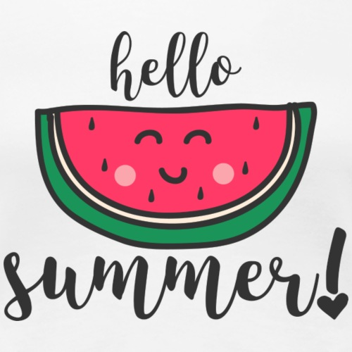 HELLO SUMMER - Frauen Premium T-Shirt