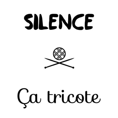 Silence, ça tricote - T-shirt Premium Femme