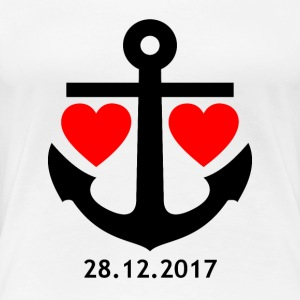 28/12/2017 relationship shirt / mug / pillow / case - Women's Premium T-Shirt