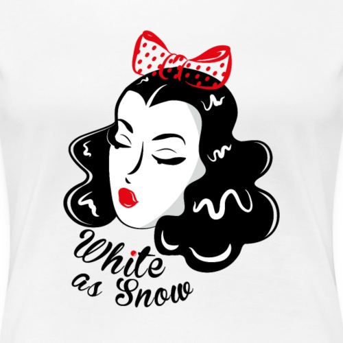 WHITE AS SNOW - T-shirt Premium Femme