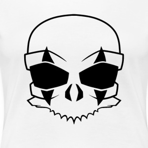 clown skull Black - Premium-T-shirt dam