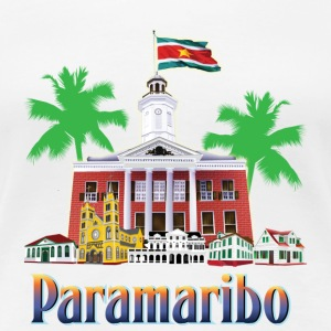 buildings Paramaribo - Women's Premium T-Shirt