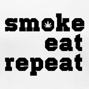 smoke eat repeat - Women's Premium T-Shirt