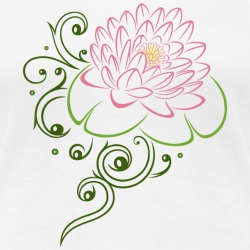 Lotusblüte mit Seerosenblättern. Lotus. - Frauen Premium T-Shirt