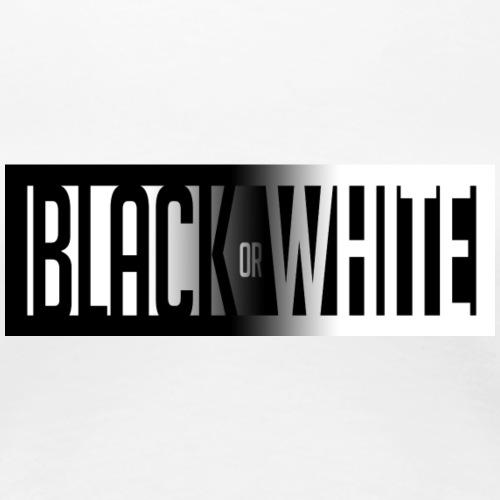 Black & White - Vrouwen Premium T-shirt