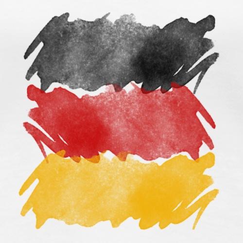 Deutschland Flagge, German flag. - Frauen Premium T-Shirt