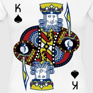 King of Spades Poker Hold'em - Dame premium T-shirt
