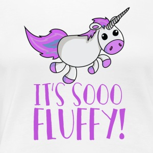 Unicorn - So Fluffy - So flauschig! - Frauen Premium T-Shirt