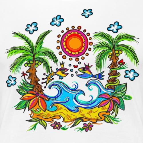 Verliebte Fische Valentinstag Party Hochzeit Liebe - Frauen Premium T-Shirt