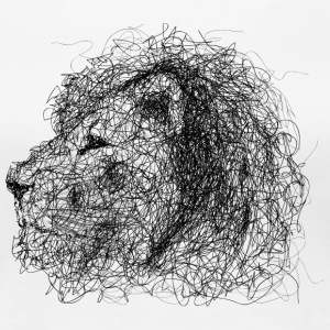 Lion Scribble - Frauen Premium T-Shirt