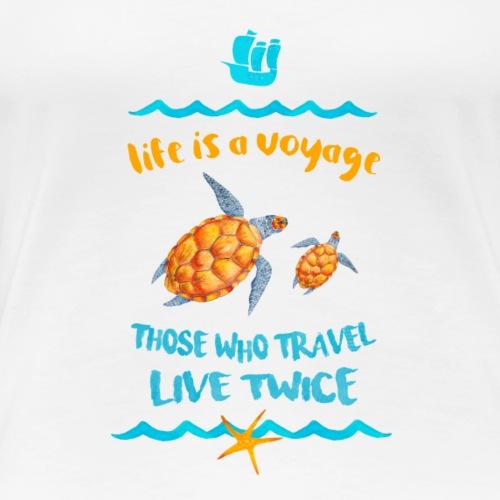 life is a travel - Koszulka damska Premium