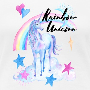 Rainbow Unicorn / Rainbow Unicorn - Dame premium T-shirt