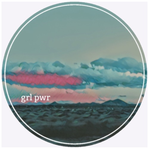 GRL PWR CLOUDS - Premium-T-shirt dam