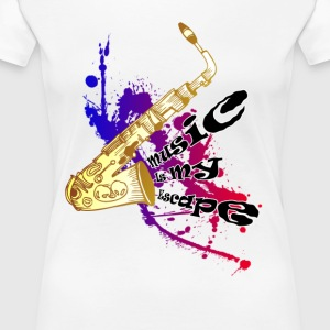 Music is my escape - Women's Premium T-Shirt