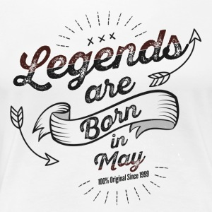 Legends are born in May birthday present - Women's Premium T-Shirt