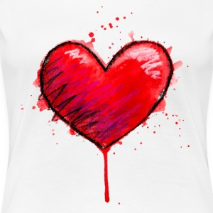 Messy Heart - Women's Premium T-Shirt