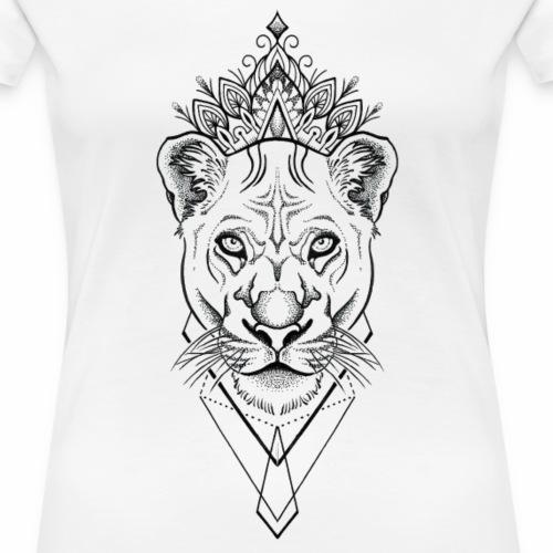 jb white lion - Frauen Premium T-Shirt