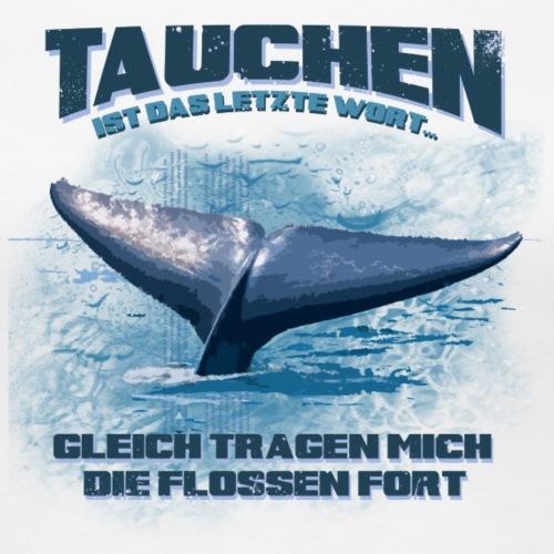 Shirt back Whale - Frauen Premium T-Shirt