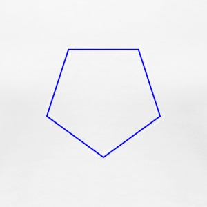 Shifted Polygons Blue - Frauen Premium T-Shirt