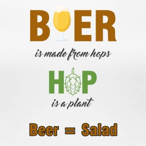Bier - Beer is made from hops... - Frauen Premium T-Shirt