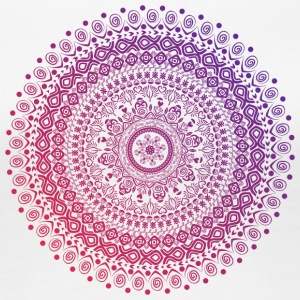 Mandala in red and purple tones, hand drawn - Women's Premium T-Shirt
