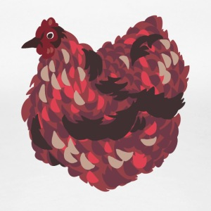 Thick chicken in red - Women's Premium T-Shirt