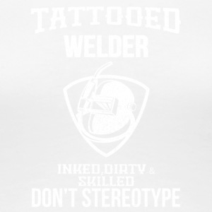 Tattooed sveiser - Premium T-skjorte for kvinner