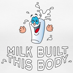 Milk built this body Latte chocolate bar - Women's Premium T-Shirt