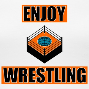 ENJOY_WRESTLING_ORANGE_DesASD - Dame premium T-shirt