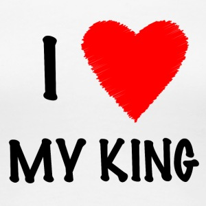 I Love My KING - T-shirt Premium Femme