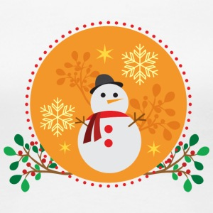 conception d'orange Snowman - T-shirt Premium Femme