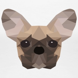 Fransk Bulldog Low Poly - Dame premium T-shirt