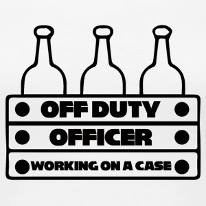 Polizei: Off Duty Officer - Working on a Case - Frauen Premium T-Shirt