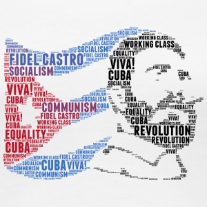 fidel castro flag word cloud - Women's Premium T-Shirt