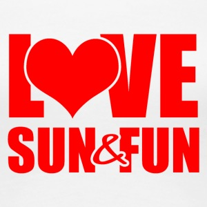 Love, Sun & Fun - Premium-T-shirt dam
