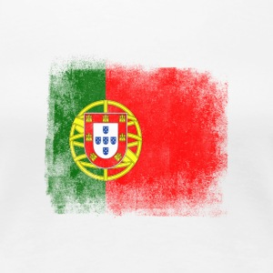 Portugal Flag Proud Portoguese Vintage Distressed - T-shirt Premium Femme
