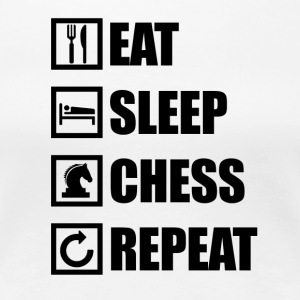 Eat Sleep CHESS GJENTA - Premium T-skjorte for kvinner