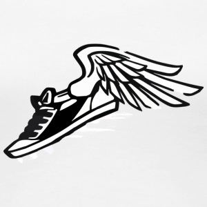 flying sneaker - Women's Premium T-Shirt