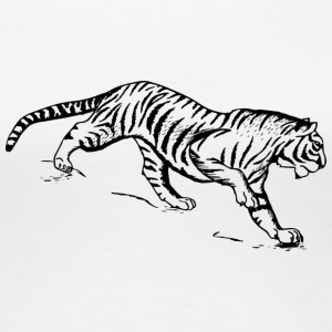 Tiger black and withe - Women's Premium T-Shirt