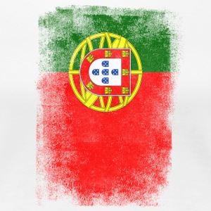 Portugal Flag Proud Portoguese Vintage Distressed - Premium-T-shirt dam