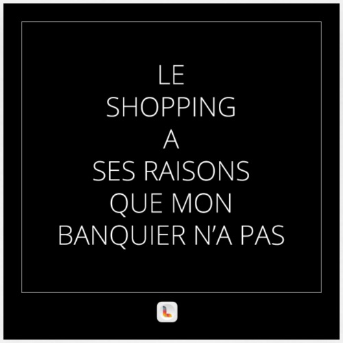 Mon banquier et le shopping - T-shirt Premium Femme