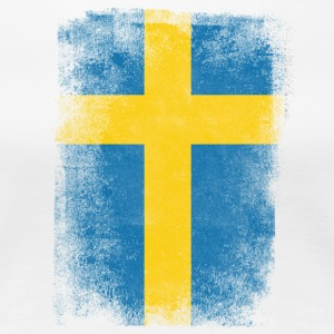Sweden Flag Proud Swedish Vintage Distressed Shirt - Women's Premium T-Shirt