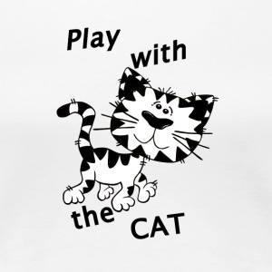 Play_Cat_Black1 - Premium T-skjorte for kvinner