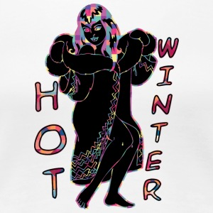 Hot Winter BLACK - Premium-T-shirt dam