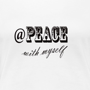 at peace with myself - Women's Premium T-Shirt