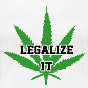 Legalize Marijuana Medical Cannabis Weed - Frauen Premium T-Shirt