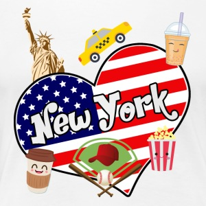 I love New York 2 - Frauen Premium T-Shirt