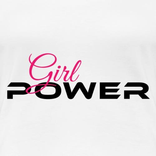 Girl Power Schwarz Pink - Frauen Premium T-Shirt